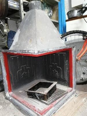 Struttura caminetto, + caminetto elettrico + tubi in acciaio