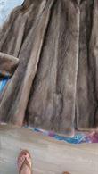 Giaccone di visone grigio