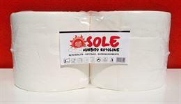 4 Maxi Rotolone Bobina Carta SOLE Super Assorbente